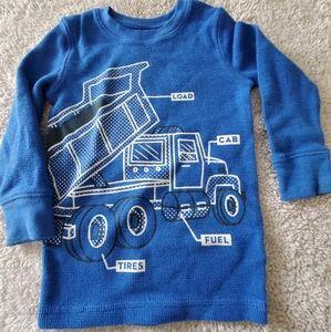 Dump truck toddler boy long sleeve